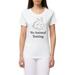 tshirt vegan eco femme no animal testing