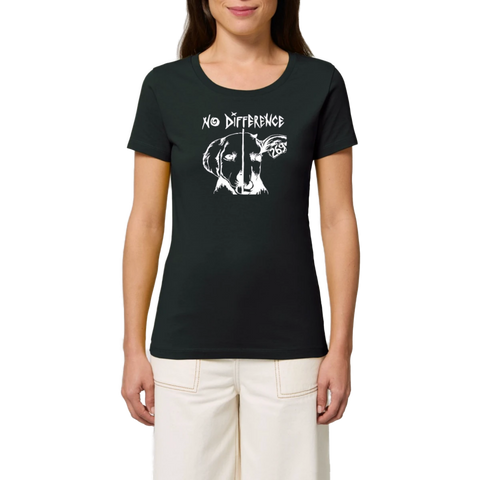 tshirt vegan eco no difference mannequin femme