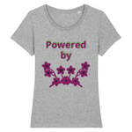 powered by plants reel - tshirt vegan eco femme gris