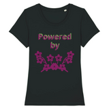 powered by plants reel - tshirt vegan eco femme noir