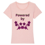 powered by plants reel - tshirt vegan eco femme rose