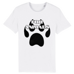 for animals tshirt vegan blanc