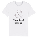 tshirt vegan no animal testing blanc homme