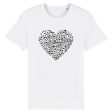 tshirt vegan eco coeur animal blanc homme