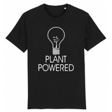 tshirt végétarien powered by plant noir