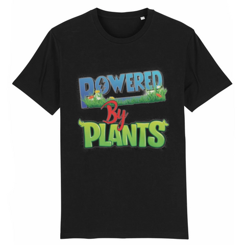 tshirt vegan powered by plants color noir