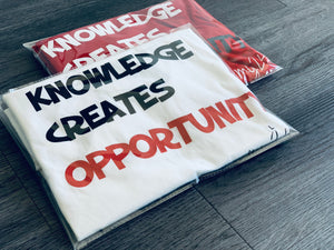 Knowledge Creates Opportunity - White