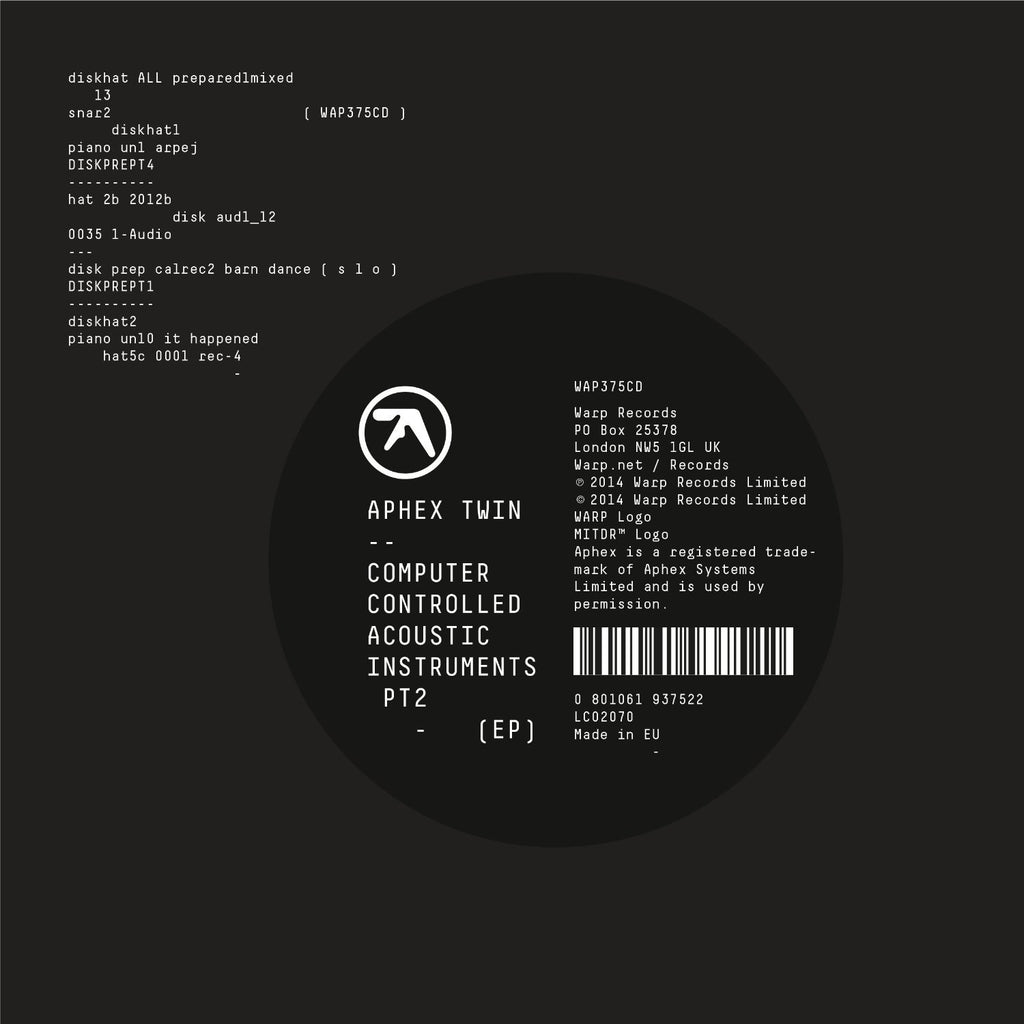 Aphex Twin - Computer Controlled Acoustic Instruments PT2 (EP)