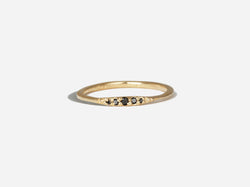Shaesby Black Diamond Flamenco Stack Ring