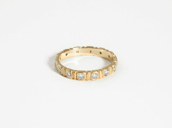 Shaesby Large Soleil Stack Ring