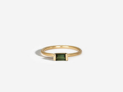 Shaesby East to West Green Tourmaline Ring