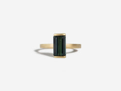 Shaesby 14k Gold Green Tourmaline Ring