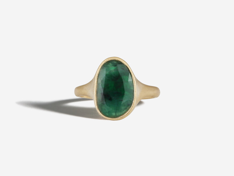 14k North to South Emerald Ring