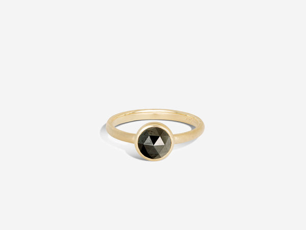 Limited Edition Rose Cut Black Diamond Ring