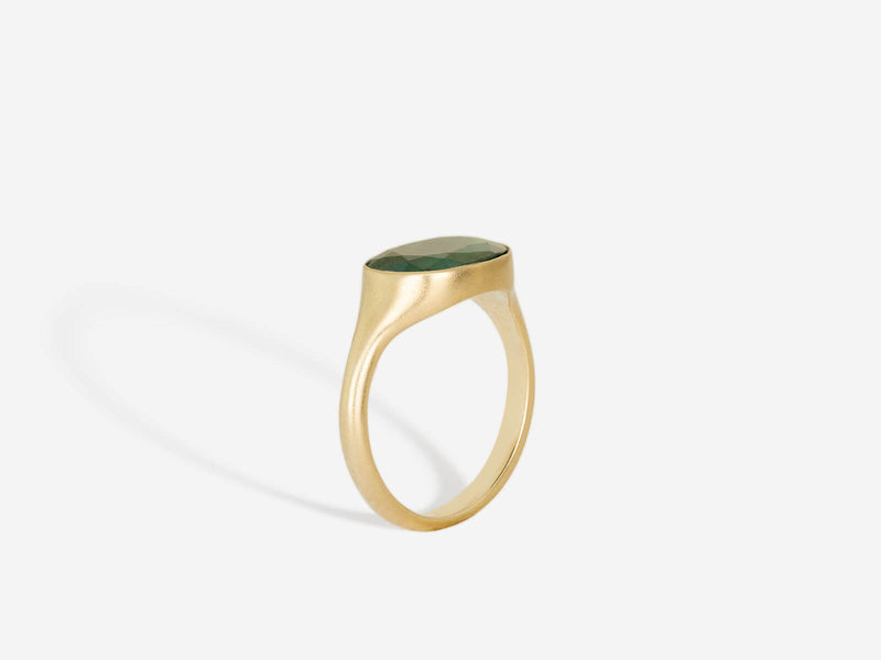Emerald and 14k Ring
