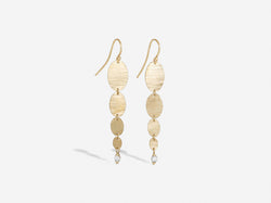Shaesby Cypress Graduated Oval Earrings with Diamonds