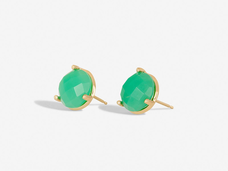 Cypress Large Coin Stud with Chrysoprase