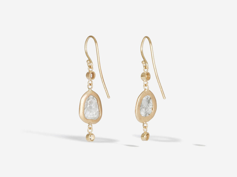 Shaesby Diamond Slice Dangle Earring