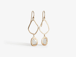Shaesby Diamond Slice Free Form Earrings