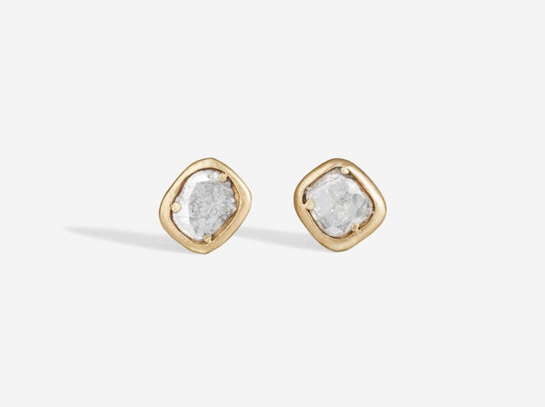 Shaesby Diamond Slice Studs