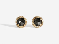 Shaesby Limited Edition Black Diamond Rose Cut Studs