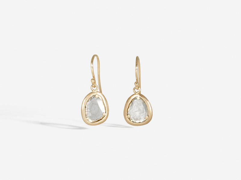 Shaesby Diamond Slice Drop Earrings