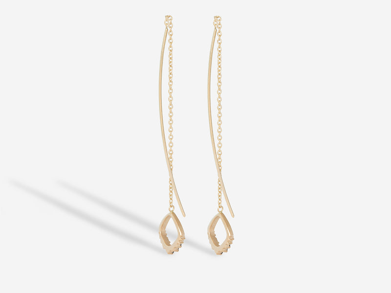 Pavé Black Diamond Thread Thru Earrings