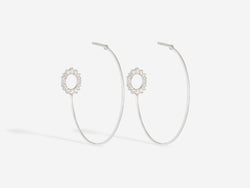 Pavé Diamond Hoops