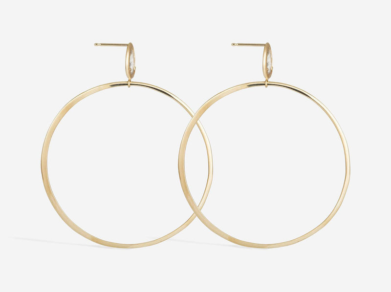Shaesby Diamond Slice Hoop