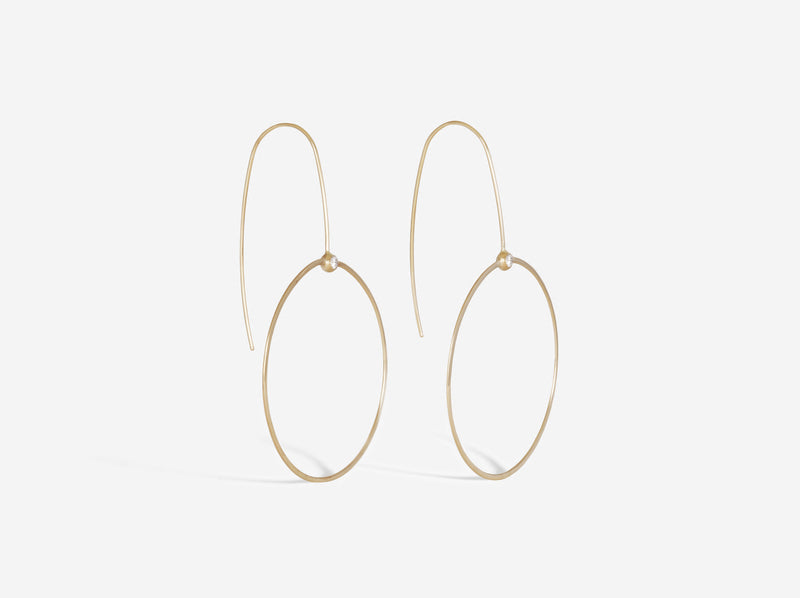 Shaesby Diamond Drop Hoop