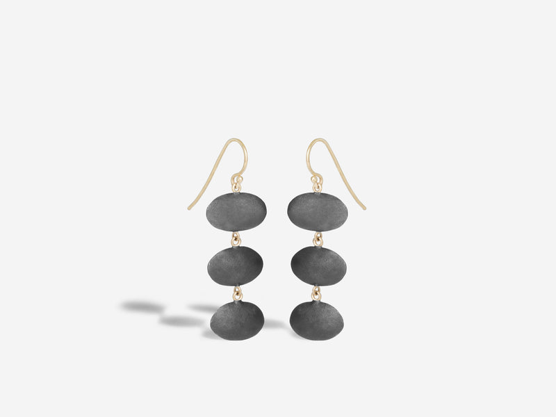 Tri-Oval Drop Earrings
