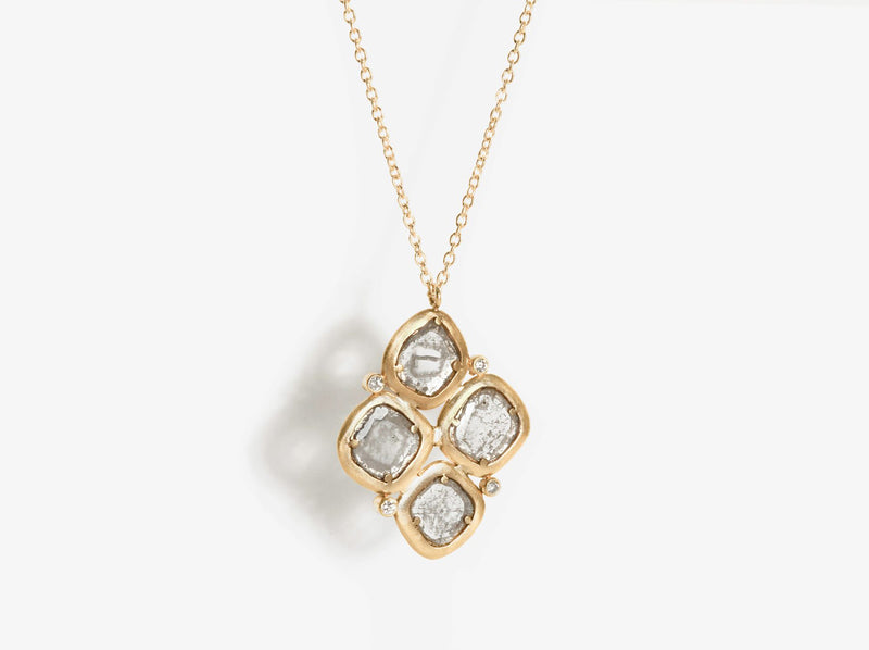 Shaesby Cluster Slice Necklace