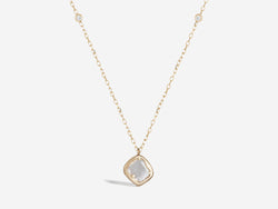 Diamond Slice Necklace with Double Bling