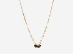 Shaesby Black Diamond Rondelle Cluster Necklace