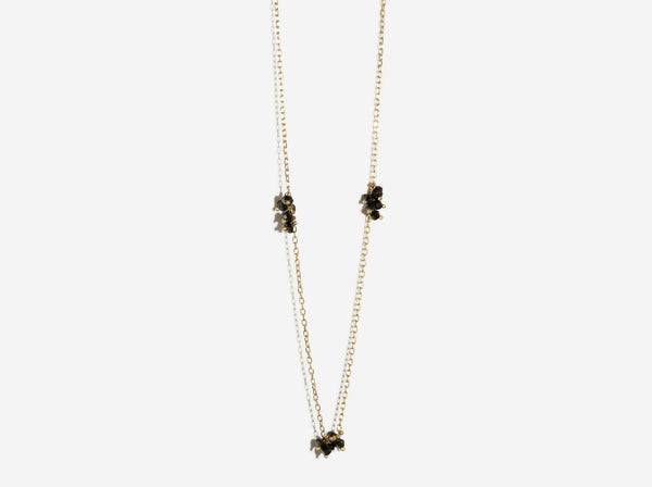 Shaesby Black Diamond Cluster Floater