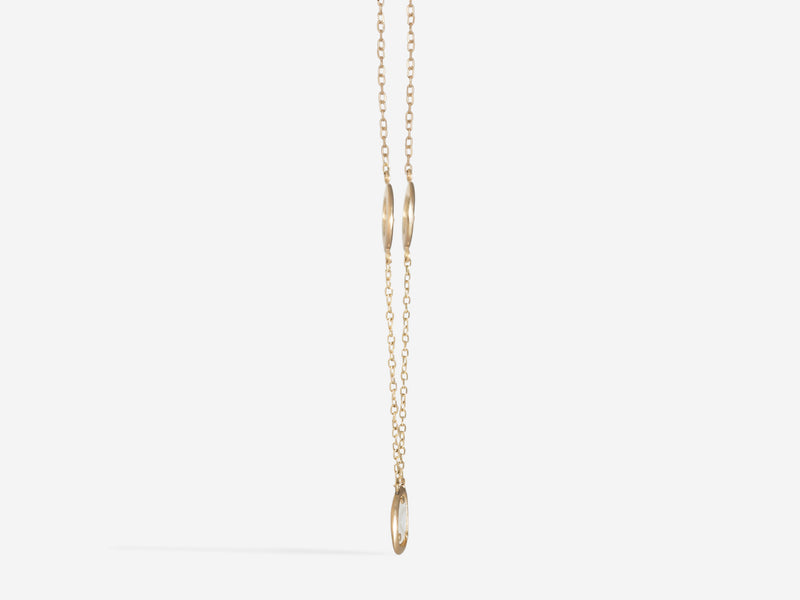 Shaesby Triple Diamond Slice Floater Necklace