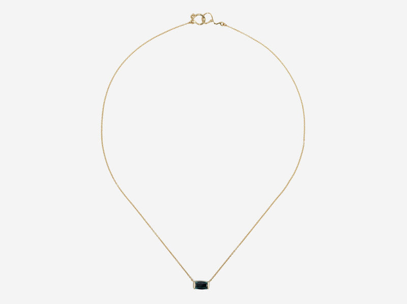 Shaesby 14k Gold and Green Tourmaline Necklace