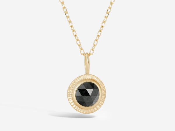 Limited Edition Rose Cut Black Diamond Burst Pendant