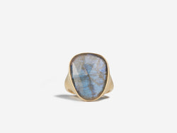One of a Kind Elongated Labradorite Ring