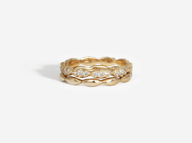 Shaesby Wave Stack Ring