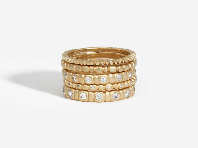 Shaesby Medium Soleil Stack Ring