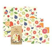 3 pack reusable Bee's Wraps - Fresh Fruit