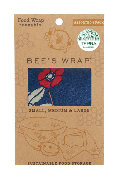 3 pack reusable Bee's Wraps - Terra Botanical