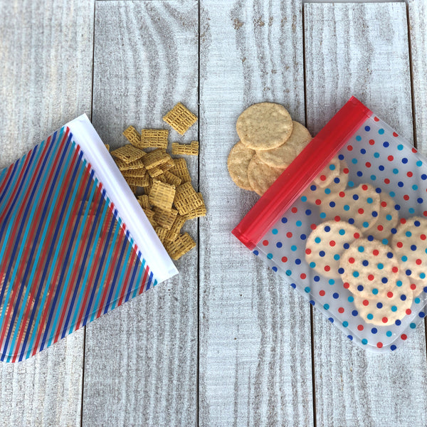ziparoos reusable snack bags set
