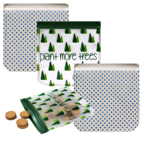 Reusable 4-Piece Snack Bags Set- Earth Friends