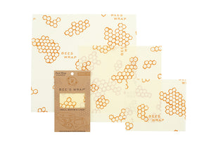 3 pack reusable Bee's Wraps - Honeycomb