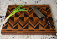 End Grain Wooden Cutting Boards Made from Arkansas Hardwoods