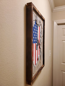 American Flag Rock Wall with Tags - Subvet Customs