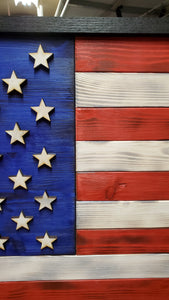"Large Rustic American Flag 4ft - 48"" x 26"" - Subvet Customs"