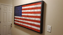 "Load image into Gallery viewer, Large Rustic American Flag 60"" (5 ft) x 36"" (3ft) - Subvet Customs"